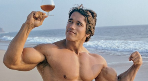Arnie says drink in moderation